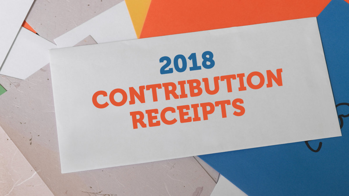 2018 Contribution Receipts
